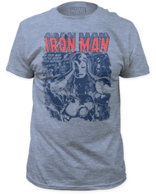 Iron man-mask off 100% Cotton High Quality Pre Shrunk Machine Washable T Shirt
