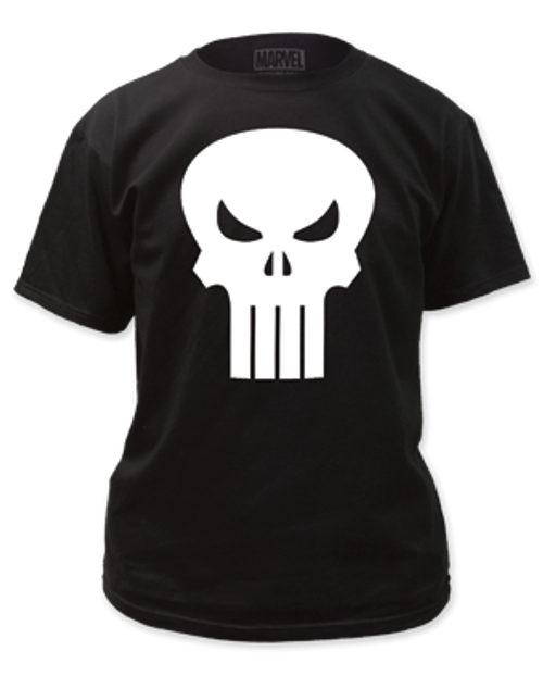 Punisher White logo 100% Cotton High Quality Pre Shrunk Machine Washable T Shirt