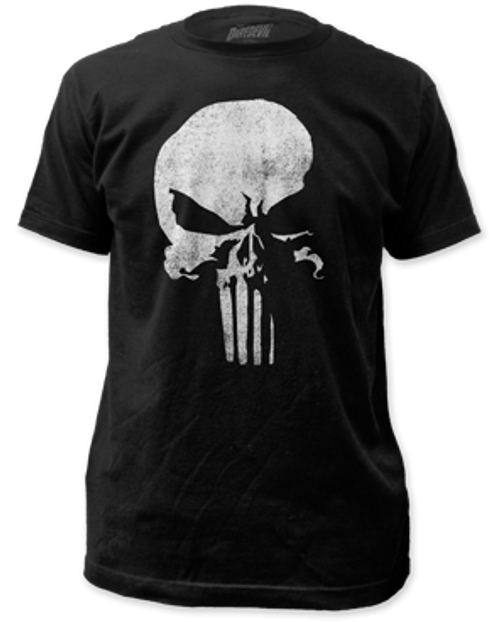 Punisher distressed logo 100% Cotton High Quality Pre Shrunk Machine Washable T Shirt