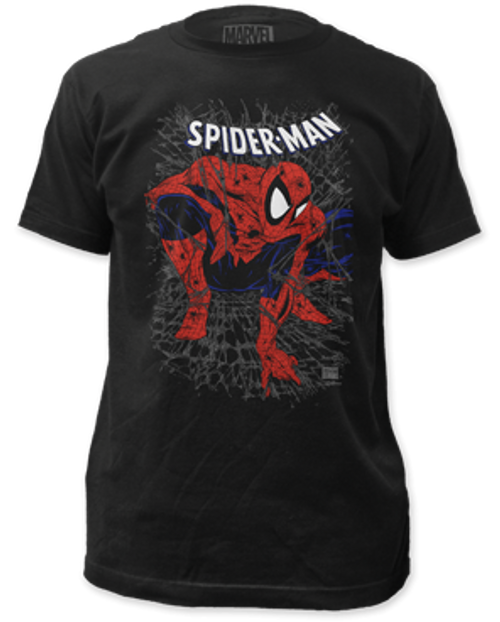 Spiderman-tangled web 100% Cotton High Quality Pre Shrunk Machine Washable T Shirt