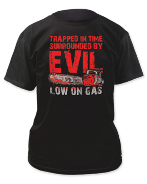 Army of darkness-Low on Gas adult unisex t-shirt
