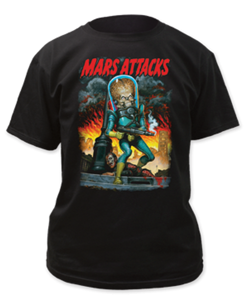 Mars Attack-City Destruction  adult unisex t-shirt