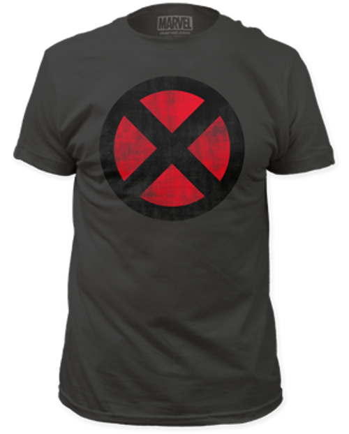 X-men-distressed x-men logo adult unisex t-shirt
