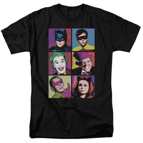 Batman-Pop Cast 100% cotton high quality pre shrunk machine washable t-shirt