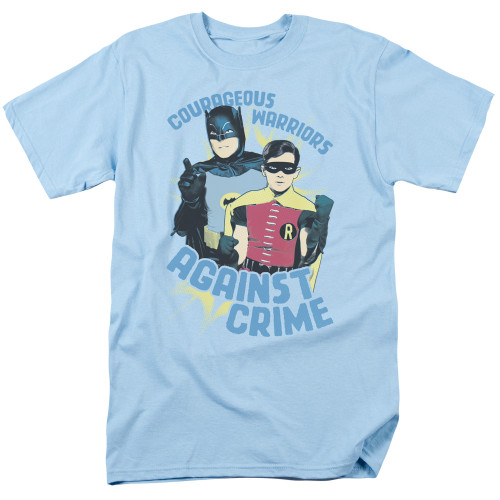 Batman-Courageous Warriors 100% cotton high quality pre shrunk machine washable t-shirt