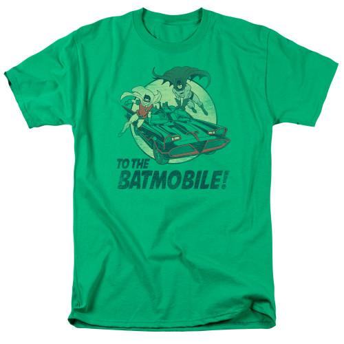Batman-To the Batmobile 100% cotton high quality pre shrunk machine washable t-shirt