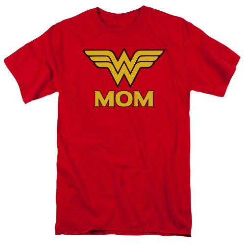 Wonder Woman-Wonder Mom 100% Cotton High Quality Pre Shrunk Machine Washable T Shirt