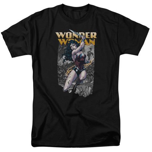 Wonder Woman-Wonder Slice 100% Cotton High Quality Pre Shrunk Machine Washable T Shirt