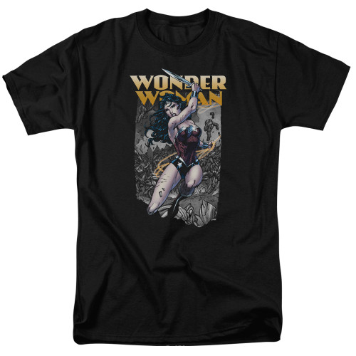 Wonder Woman-Wonder Slice 100% Cotton High Quality Pre Shrunk Machine Washable T Shirt