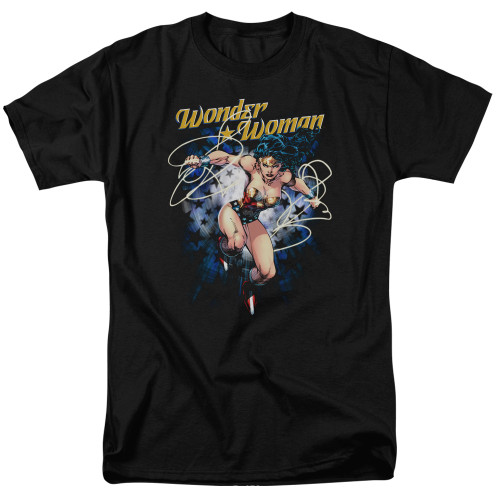 Wonder Woman-Starburst 100% Cotton High Quality Pre Shrunk Machine Washable T Shirt