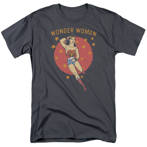 Wonder Woman-Wonder Circle 100% Cotton High Quality Pre Shrunk Machine Washable T Shirt