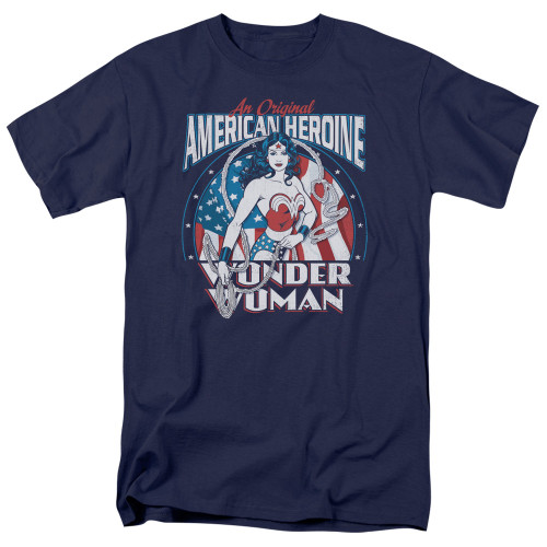 Wonder Woman-American Heroine 100% Cotton High Quality Pre Shrunk Machine Washable T Shirt