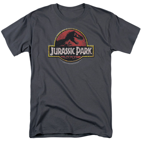 Jurassic  Park Stone logo 100% Cotton High Quality Pre Shrunk Machine Washable T Shirt