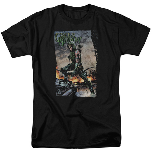 Green Arrow fire and rain adult unisex t-shirt