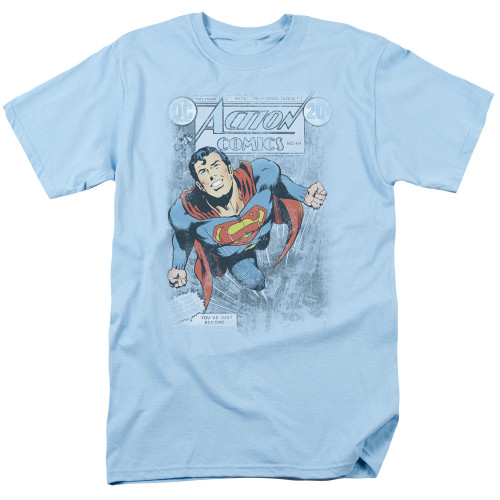 Superman-Action #419 distress 100% Cotton High Quality Pre Shrunk Machine Washable T Shirt