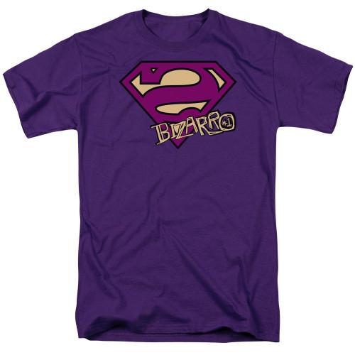 Superman-Bizarro Shield 100% Cotton High Quality Pre Shrunk Machine Washable T Shirt