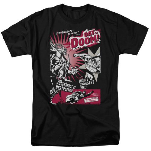 Superman-Day of doom 100% Cotton High Quality Pre Shrunk Machine Washable T Shirt