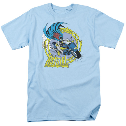 Batgirl motorcycle 100% cotton high quality pre shrunk machine washable t-shirt