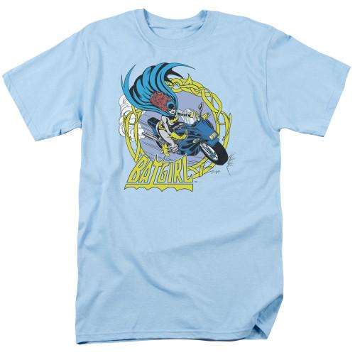 Batgirl motorcycle 100% cotton high quality pre shrunk machine washable t-shirt