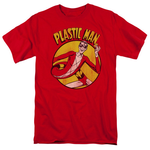 Plastic Man 100% Cotton High Quality Pre Shrunk Machine Washable T Shirt