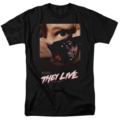 they live poster adult unisex t-shirt 100% Cotton High Quality Pre Shrunk Machine Washable T Shirt