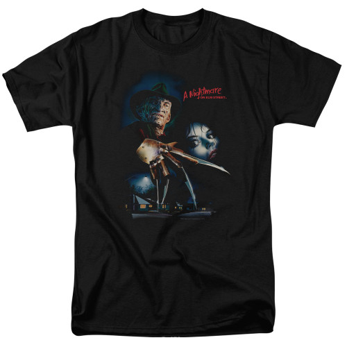 A nightmare on elm st Poster adult unisex tshirt 100% Cotton High Quality Pre Shrunk Machine Washable T Shirt