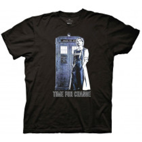 Dr Who-13th Doctor time  to change 100% Cotton High Quality Pre Shrunk Machine Washable T Shirt