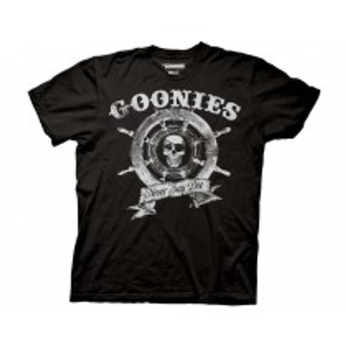 Goonies Ship wheel 100% Cotton High Quality Pre Shrunk Machine Washable T Shirt