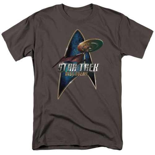 St Trek the discovery adult unisex tshirt 100% Cotton High Quality Pre Shrunk Machine Washable T Shirt