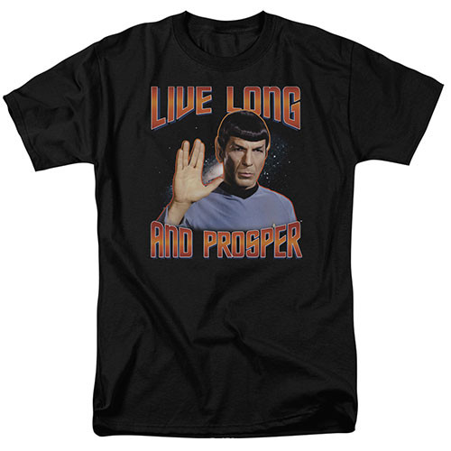 Star Trek - Live long and  prosper adult unisex tshirt