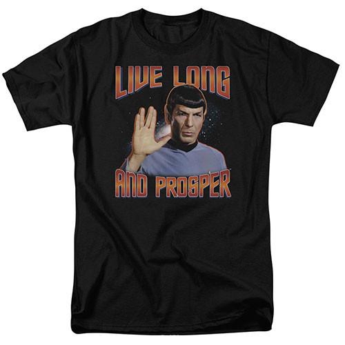 Star Trek - Live long and  prosper adult unisex tshirt