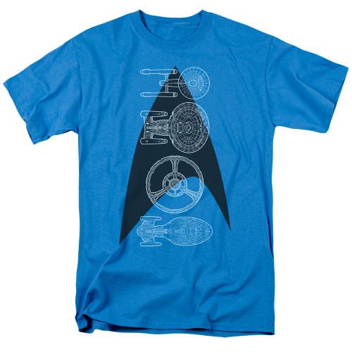 St Trek line of ships adult unisex tshirt