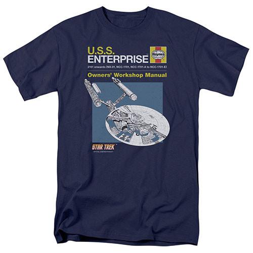 star trek enterprise manual adult unisex tshirts 100% Cotton High Quality Pre Shrunk Machine Washable T Shirt