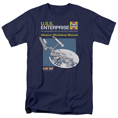 star trek enterprise manual adult unisex tshirts 100% Cotton High Quality Pre Shrunk Machine Washable T Shirt
