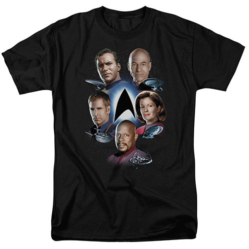 star trek starfleets finest adult unisex tshirt 100% Cotton High Quality Pre Shrunk Machine Washable T Shirt
