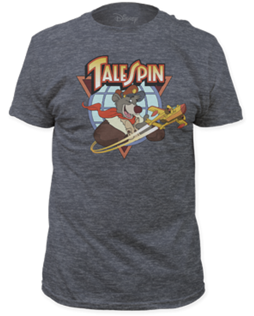 Disney-Tales Spin Logo 100% Cotton High Quality Pre Shrunk Machine Washable T Shirt