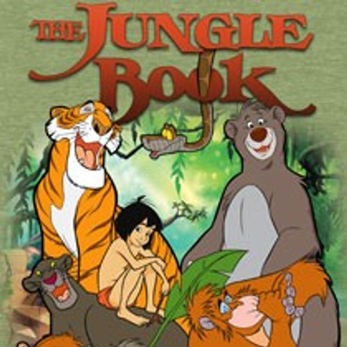 Disney-The Jungle Book 100% Cotton High Quality Pre Shrunk Machine Washable T Shirt