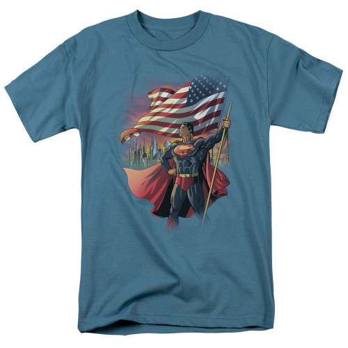Superman American Hero 100% Cotton High Quality Pre Shrunk Machine Washable T Shirt