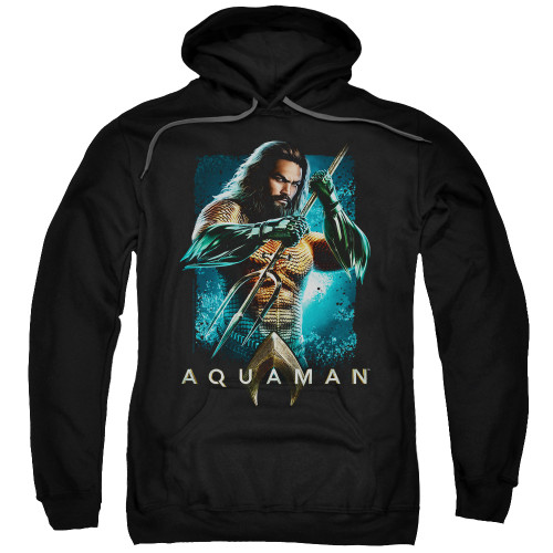Aquaman Movie - Trident 100% Cotton High Quality Pre Shrunk Machine Washable Hoodie