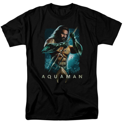 Aquaman Movie-Trident 100% Cotton High Quality Pre Shrunk Machine Washable T Shirt