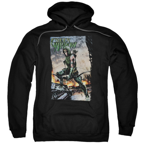 Green Arrow-Fire and Rain 100% Cotton High Quality Pre Shrunk Machine Washable Hoodie