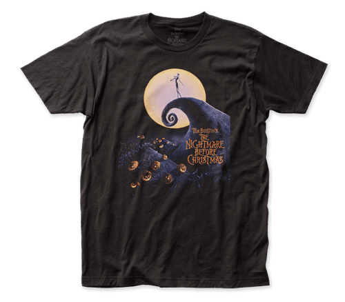 Nightmare before Christmas-Poster 100% Cotton High Quality Pre Shrunk Machine Washable T Shirt