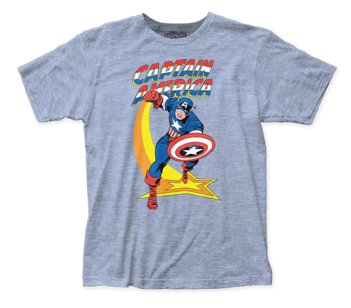 Capt America-Star Punch 100% Cotton High Quality Pre Shrunk Machine Washable T Shirt