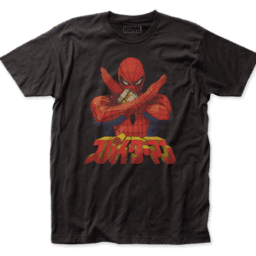 Japanese Spiderman 100% Cotton High Quality Pre Shrunk Machine Washable T Shirt