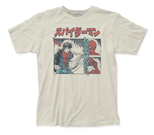 Spiderman-The Manga 100% Cotton High Quality Pre Shrunk Machine Washable T Shirt