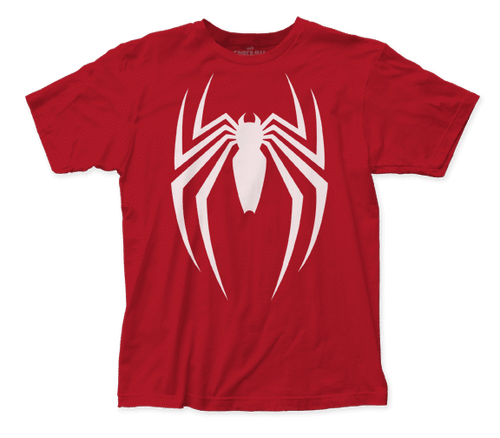 Spiderman-Video Game Logo 100% Cotton High Quality Pre Shrunk Machine Washable T Shirt