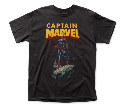 Capt Marvel-Asteroid 100% Cotton High Quality Pre Shrunk Machine Washable T Shirt