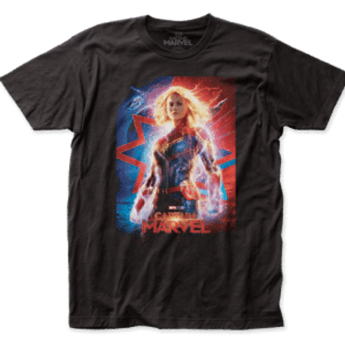 Capt Marvel-Poster 100% Cotton High Quality Pre Shrunk Machine Washable T Shirt