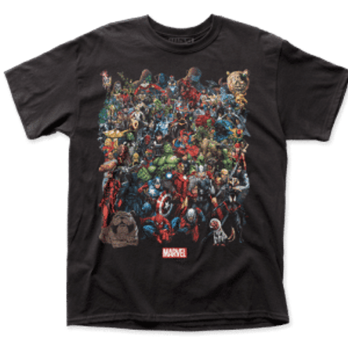 Marvel Comics-Marvel Universe 100% Cotton High Quality Pre Shrunk Machine Washable T Shirt