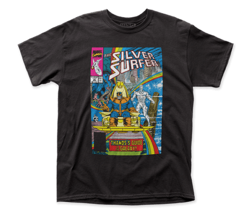 Silver Surfer-Guide to the galaxy 100% Cotton High Quality Pre Shrunk Machine Washable T Shirt